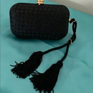 Black Wristlet Evening Bag by LaRegale
